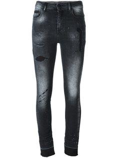 джинсы кроя скинни с потертой отделкой Marcelo Burlon County Of Milan