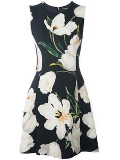 пальто с принтом тюльпанов Dolce & Gabbana