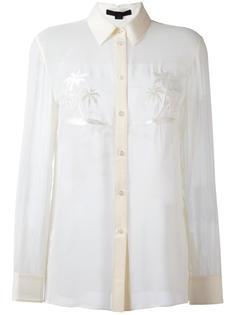 рубашка с вышивкой пальм Alexander Wang