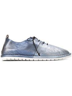 туфли на шнуровке с эффектом металлик Marsèll