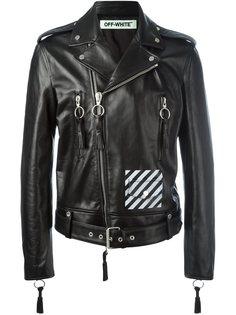 байкерская куртка в диагональную полоску Off-White