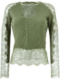 свитер с кружевными вставками Ermanno Scervino
