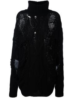 объемный свитер с рваными деталями Faith Connexion