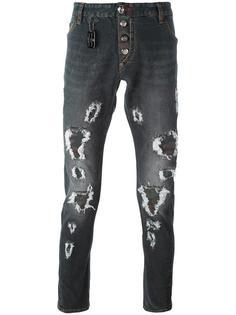 джинсы кроя слим с рваными деталями Philipp Plein