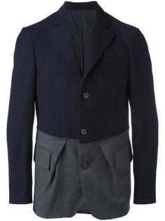 contrast panel blazer Wooster + Lardini