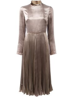 бархатное платье с высоким воротом Valentino