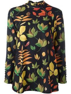 блузка с принтом листьев Arthur Arbesser