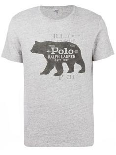 футболка с принтом медведя Polo Ralph Lauren
