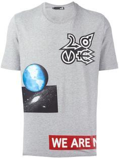 футболка с разными принтами Love Moschino