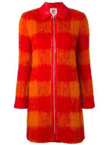 checked zip-up coat Courrèges Vintage