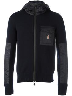 knitted patchwork hoodie Moncler Grenoble