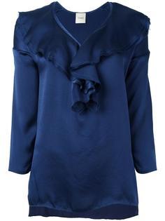 блузка с V-образным вырезом Nude