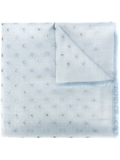 шарф с вышивкой звезд Valentino