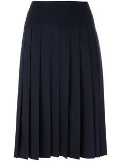 короткая плиссированная юбка Jil Sander Navy