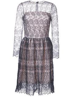 кружевное платье с длинными рукавами Ermanno Scervino
