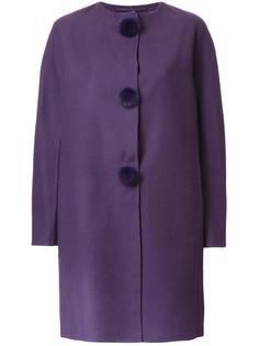 пальто с пуговицами-помпонами Ermanno Scervino