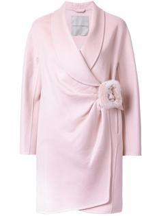 пальто с запахом на пряжке Ermanno Scervino