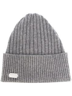 шапка ребристой вязки Philipp Plein