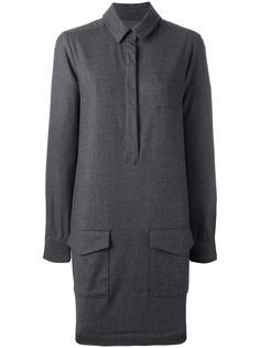 платье-рубашка с накладными карманами YMC