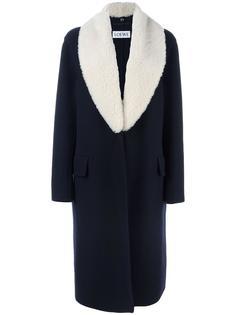 contrasting lapel coat Loewe