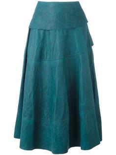 широкая юбка средней длины Ma+