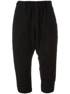 укороченные декорированные брюки By Walid