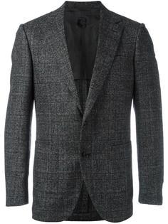 пиджак с заостренными лацканами в клетку Caruso