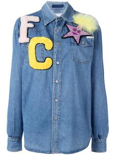 джинсовая рубашка с заплатками Forte Couture