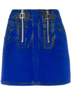 flocked mini skirt Courrèges