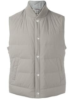 buttoned padded gilet Brunello Cucinelli