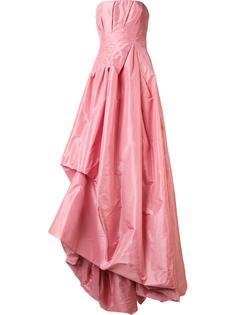 draped strapless gown Oscar de la Renta