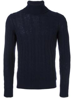 cable knit turtleneck jumper Zanone
