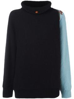 contrast sleeve jumper Versace Vintage