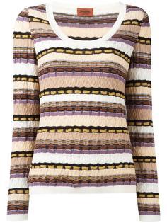 striped knit jumper Missoni Vintage