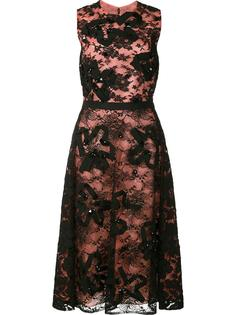 scuba floral lace dress Oscar de la Renta