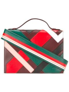 сумка на плечо с полосатой лямкой на плечо Emilio Pucci
