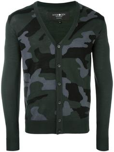 camouflage V-neck cardigan Hydrogen