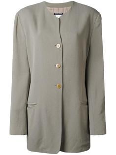 collarless shirt jacket Giorgio Armani Vintage
