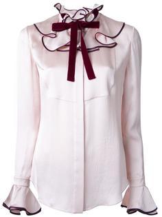 рубашка с оборками Roksanda