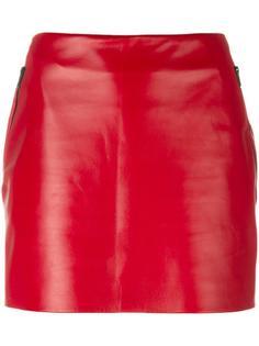 кожаная мини-юбка Barbara Bui