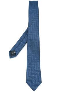 галстук с мелким узором Z Zegna
