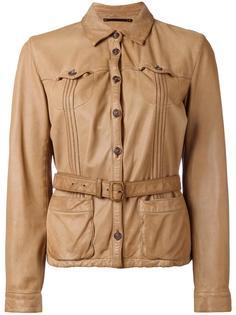 belted leather jacket Prada Vintage