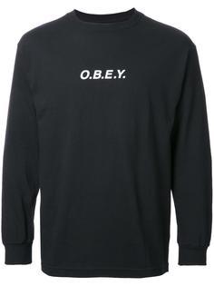 толстовка с принтом-логотипом Obey