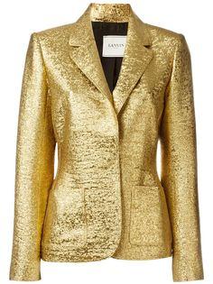 пиджак с отделкой металлик Lanvin