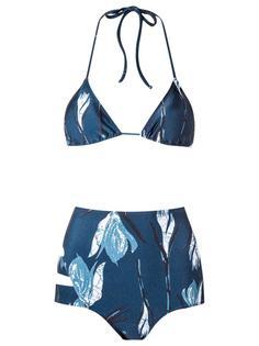 printed triangle bikini set Giuliana Romanno