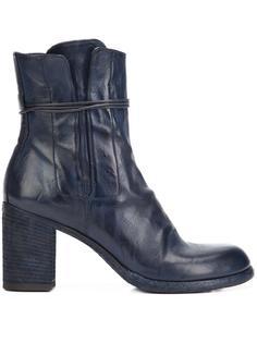tie zip ankle boots Officine Creative