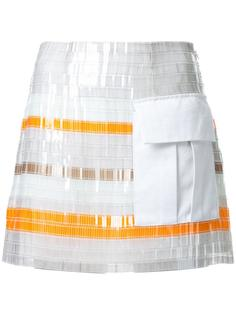 patch pocket striped skirt Manning Cartell
