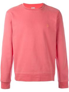 contrast peace embroidered sweatshirt Paul Smith
