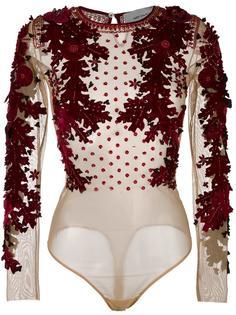 floral applique blouse Amen