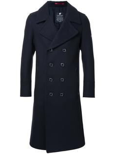 notched lapel double-breasted coat Loveless